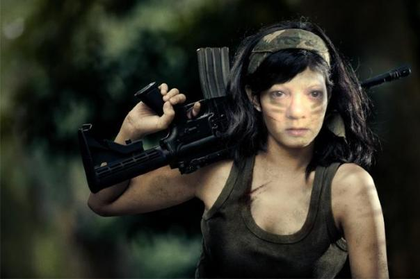Kay as Female Soldier