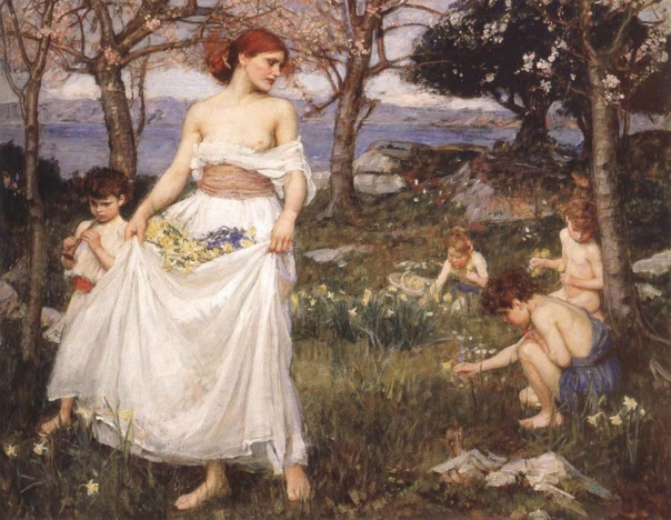 A Song of Springtime by John William Waterhouse
